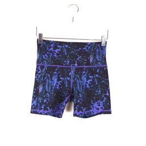 Lululemon Purple Print Biker Shorts
